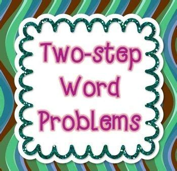 Two Step Word Problems 2nd Grade Common Core  Word Problems Geometry And Worksheets On