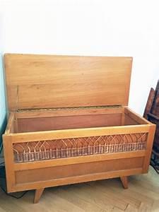 Banc Coffre A Jouet : banc coffre jouets vintage en bois et rotin 70 39 s luckyfind ~ Teatrodelosmanantiales.com Idées de Décoration