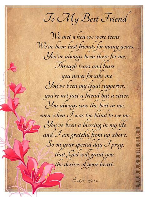 birthday poems for best friends happy birthday to my