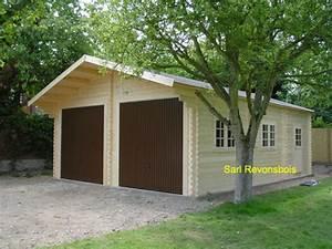 Garage Voiture En Bois : garage bois double pente garage voiture deux places ~ Dallasstarsshop.com Idées de Décoration