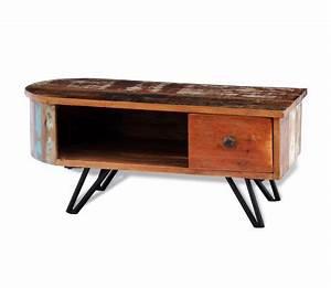 Couchtisch Recyceltes Holz : wohnzimmertisch mit stahlbeinen recyceltes holz g nstig kaufen ~ Sanjose-hotels-ca.com Haus und Dekorationen
