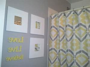 Yellow gray bathroom inspiration