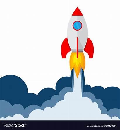 Rocket Launch Vector Royalty Vectors Vectorstock