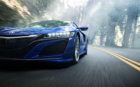 Acura Nsx, Car, Vehicle, Mist, Forest, Road, Motion Blur