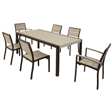 city furniture patio dining sets polywood textured silver 7 patio dining set