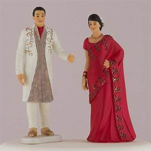 Traditional Indian Bride & Groom Wedding Cake Topper - The ...
