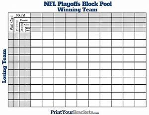 Printable nfl playoffs block pool for Printable super bowl block pool template