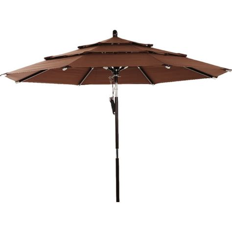 3 tier brown patio umbrella