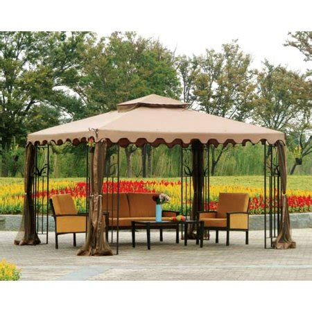10x12 Gazebo by Garden Winds Replacement Canopy Top For Big Lots 10x12