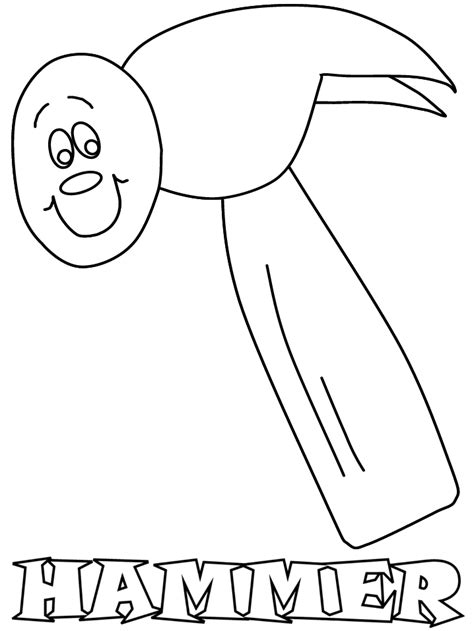 hammer construction coloring pages coloring page book