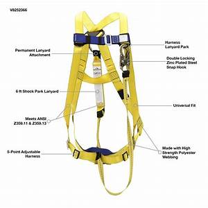 Peakworks Fall Protection V8252366 Osha  Ansi Compliant
