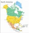 Fabulous map of north america printable | Alma Website