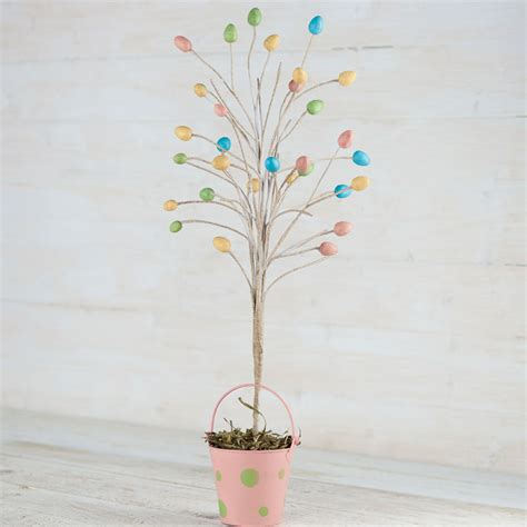 Pastel Easter Egg Tabletop Tree   Spring and Easter   Holiday Crafts