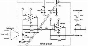 free schematic diagram 1us light pulse receiver circuit With lamp pulser circuit