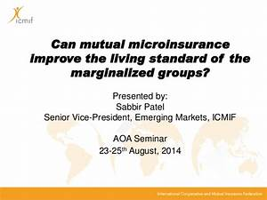 Can mutual microinsurance improve the living standard of ...