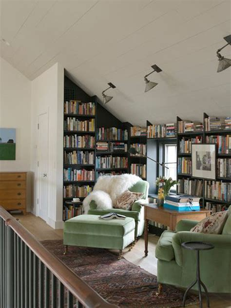 small attic library  sofa furniture homemydesign