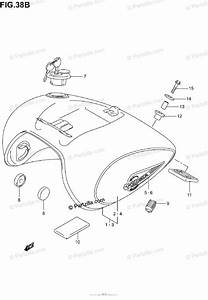 Suzuki Motorcycle 2003 Oem Parts Diagram For Fuel Tank  Model K3
