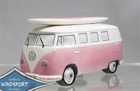 vw spardose vw surf bulli t1 spardose uni rosa vw lizensiert original ebay