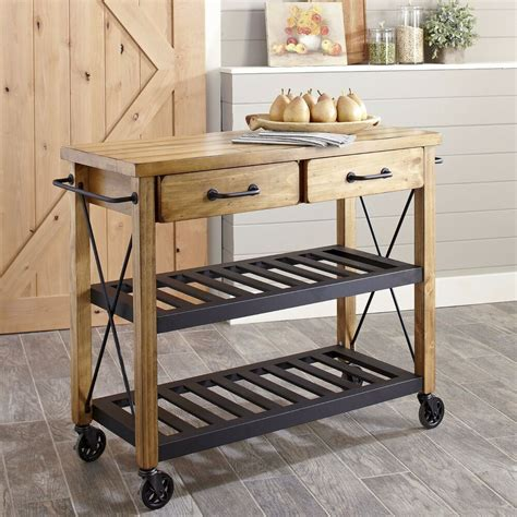 kitchen carts islands utility tables modern rustic industrial country portable kitchen cart