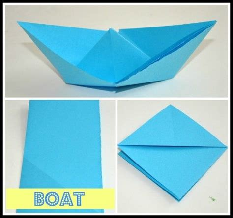 How To Make A Paper Boat Art by Origami For Kids Fun Littles