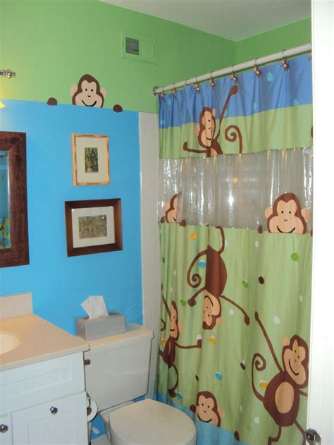 Monkey Bathroom  Little Boys Bathroom Ideas Pinterest