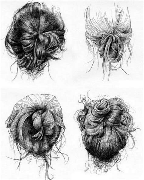 hair sketches images  pinterest drawing