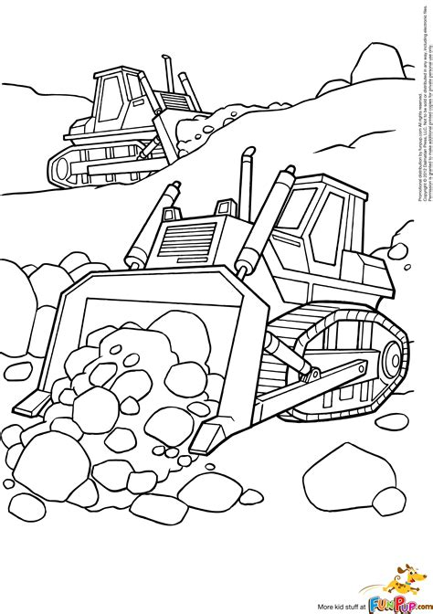 Get out your pens, your colored pencils and give color to life. Caterpillar Bulldozer coloring page Free Printable ...