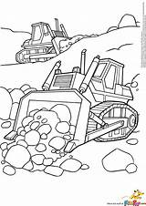 Coloring Bulldozer Pages Printable Backhoe Simple Caterpillar Template Dozer Construction Bulldozers Excavator Truck sketch template