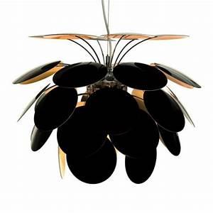 Suspension Noir Et Or : suspension discoco noir et or 35cm marset luminaires nedgis ~ Teatrodelosmanantiales.com Idées de Décoration