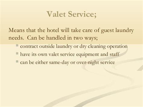 Valet Service Meaning by Wash Cycle