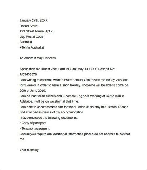 invitation letter to usa invitation letter sle for usa visitor visa 12606