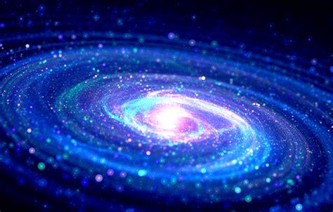 Fractal Digital Art Milky Way Galaxy Bokeh Spiral