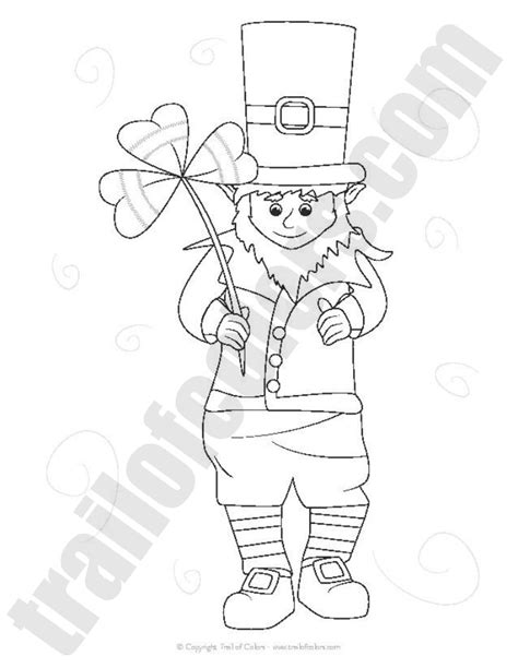 leprechaun coloring pages adorable leprechaun coloring page st s day free
