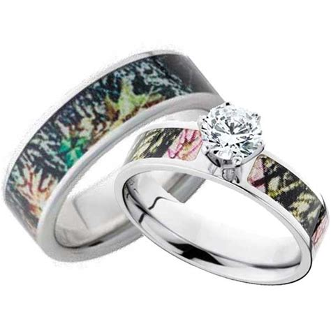 camo wedding bands for him and wedding and bridal inspiration