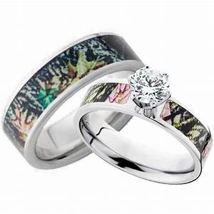 camo wedding bands for him and her wedding and bridal With camo wedding rings for her