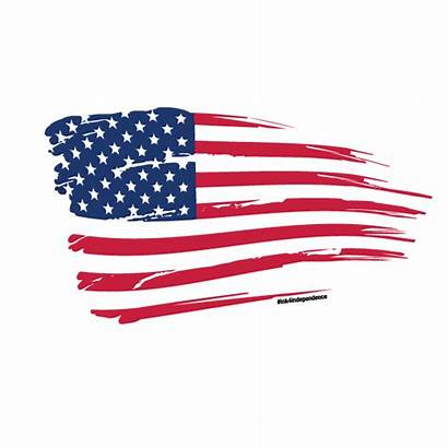 Flag Rugged Clipart American Usa Tattered Transparent