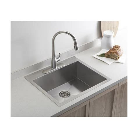 stainless steel kitchen sinks 19 inch top mount drop in stainless steel single bowl