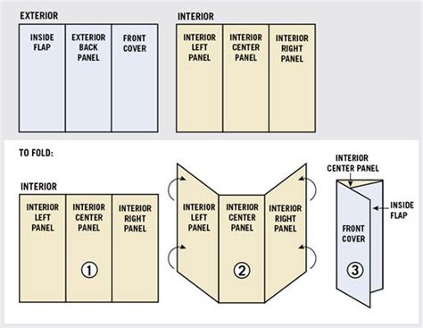 3 Panel Brochure Template How To Set Up Tri Fold Brochures Tri Fold Brochure Folding Theveliger