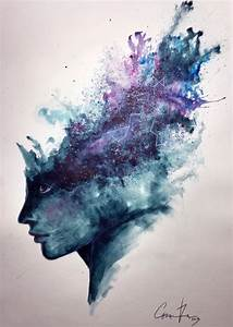 """Watercolor Abstract Portrait - """"Universal Mind"""" Speed ..."""
