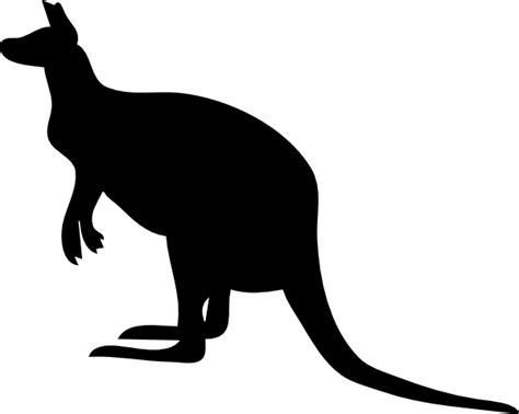 contour kangaroo clip art  clkercom vector clip art