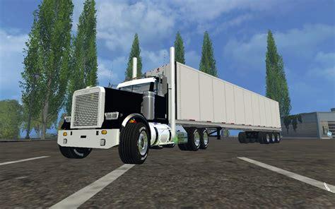 freightliner truck semi farming simulator   mod