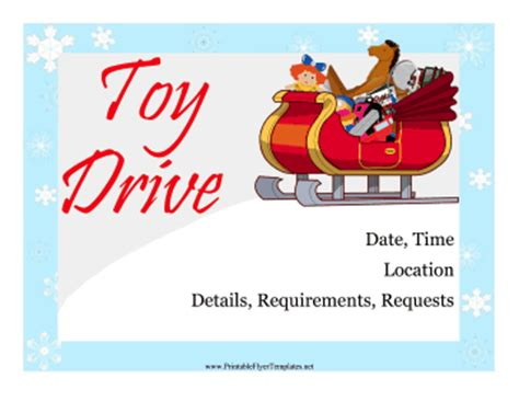 toy drive flyer template word holiday toy drive flyer