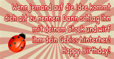 Witzige Geburtstagssprüche