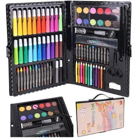 12.50 EUR Zīmēšanas un krāsošanas komplekts bērniem, 86 gab.