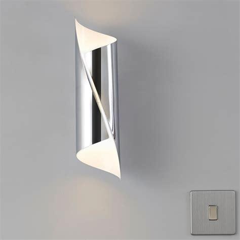 zodia cut chrome effect single wall light departments diy at b q