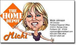 Caricature business cards designs that grab attention for Home depot business cards