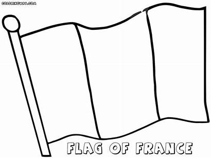 Flag French Coloring Pages France Drawing Colour