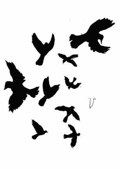 Bird Silhouettes Mocking Silhouette Tattoo Sleeve Mockingbird