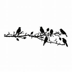 Pusteblume Schwarz Weiß Vögel : wandtattoo ast mit v gel wandtattoo tierwelt ~ Orissabook.com Haus und Dekorationen