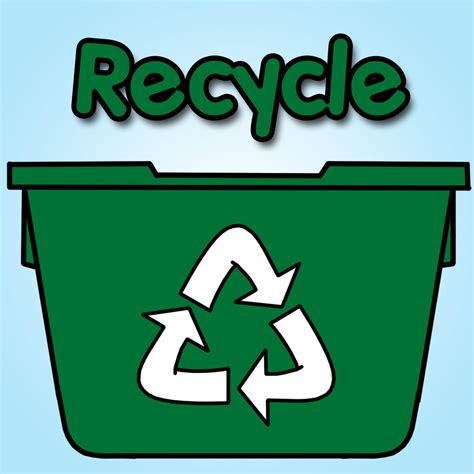 recycle bin clipart clip recycle bin color purple abcteach